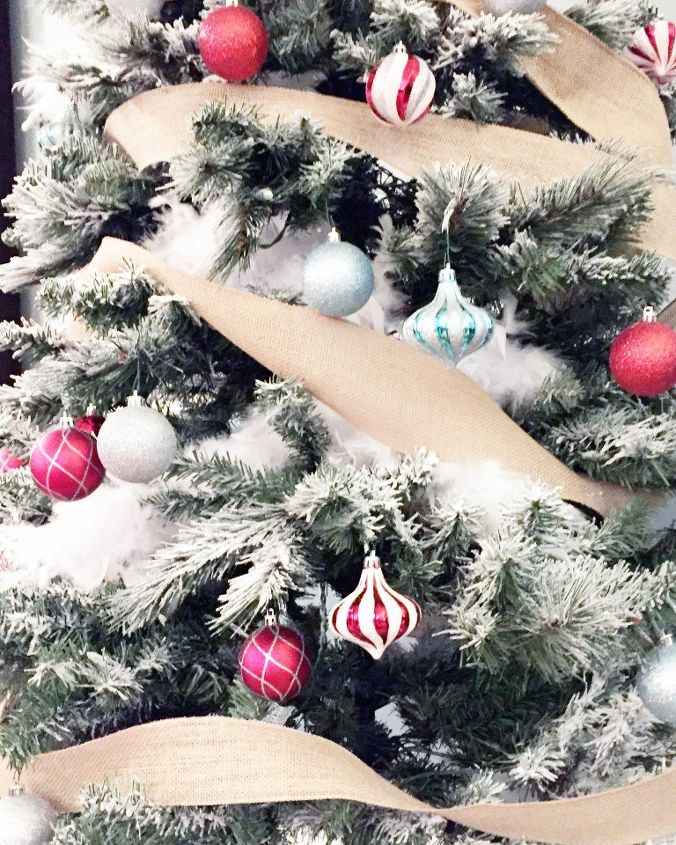how to flock your own christmas tree, christmas decorations, home decor, how to, seasonal holiday decor