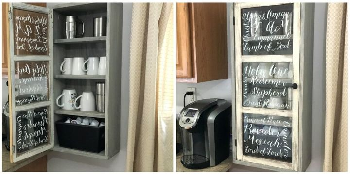 cabinet made from old window, kitchen cabinets, kitchen design