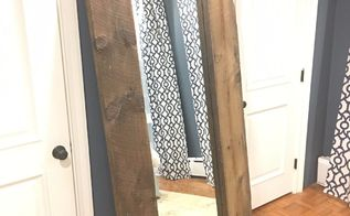 giant leaning mirror, home decor