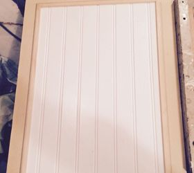 these were painted plywood and i repainted white after adding beadboard smooth faced kitchen cabinet doors   hometalk  rh   hometalk com