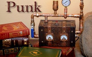 how to make a steampunk mini trunk lamp, crafts, electrical, how to, lighting