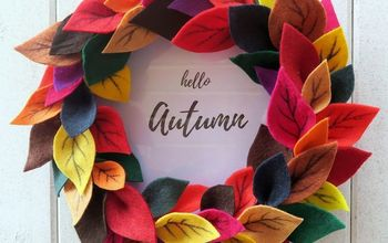 Felt Leaves Autumn Wreath