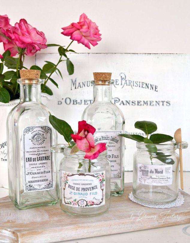 Diy Vintage French Apothecary Jars Crafts Decoupage Home Decor Mason
