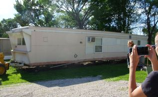 before and after on repainting older mobile homes