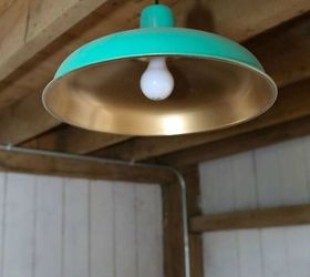 Spray paint your l&shade with a bold color & Want High-End Lighting? These 20 Minute Ideas Are Brilliant | Hometalk azcodes.com