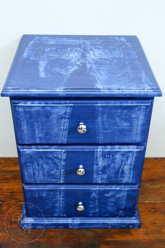 how to create a faux denim look on painted furniture, how to, painted furniture