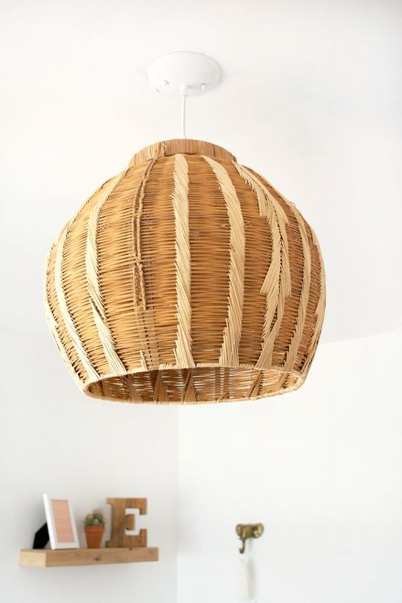 how to turn a basket into a pendant light, crafts, home decor, how to, lighting