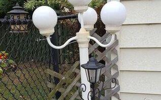 q make into solar lamp, go green, lighting, outdoor furniture, repurpose furniture, repurposing upcycling