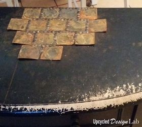 Upcycled Tin Can Lid Table Top Cover Up Episode 4 Of Dogs Vs Cats, Living