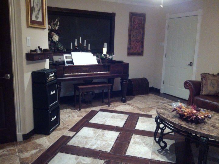 odd room turned into music sitting room, living room ideas