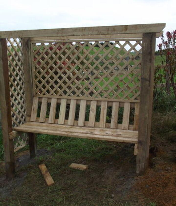 pergola arbor seat, gardening, outdoor furniture, outdoor living