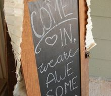 diy bistro sign from repurposed cabinet doors, chalkboard paint, crafts, doors, kitchen cabinets, kitchen design