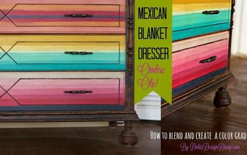 Mexican Blanket Dresser, How to Blend Color With Clay Based Paint