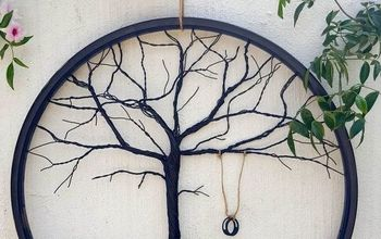 repurpose a bicycle wheel to make a tree of life, crafts, halloween decorations, home decor, how to, seasonal holiday decor