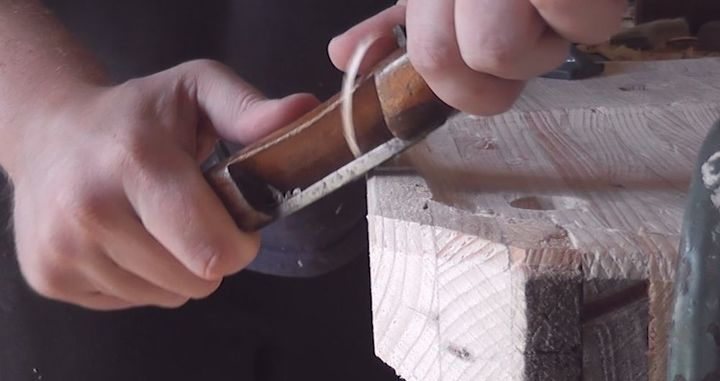 A spokeshave is a joy to use.