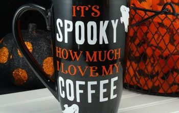 DIY Halloween Coffee Mug + Hazelnut Mocha Coffee Recipe