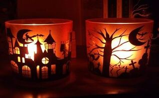 3 diy halloween candle ideas, halloween decorations, seasonal holiday decor