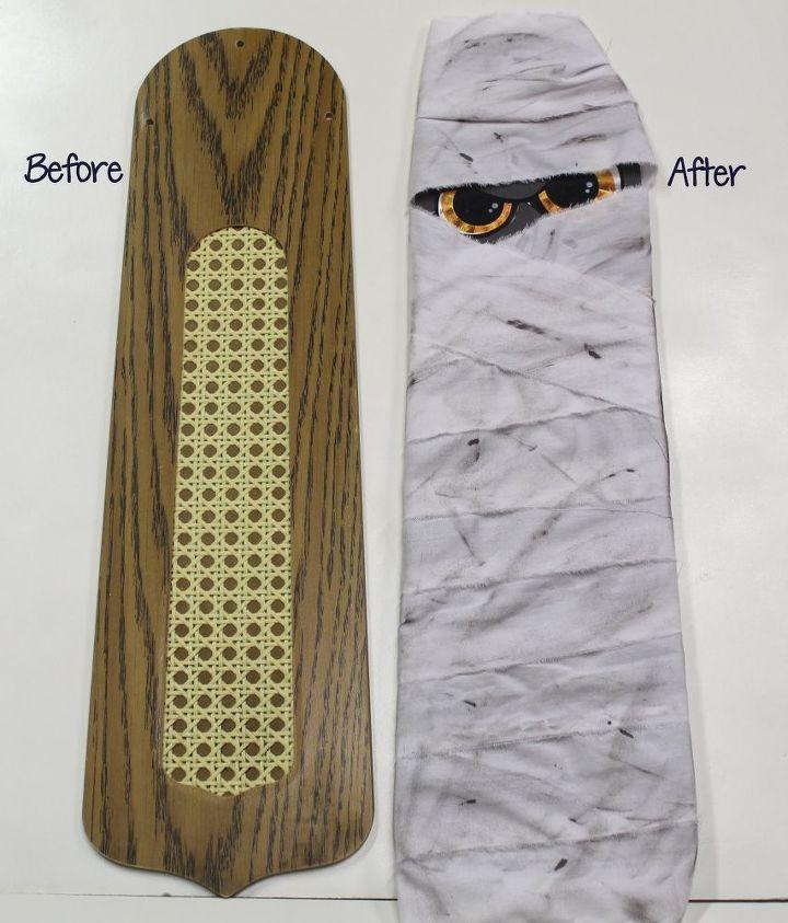 Make A Halloween Mummy From A Ceiling Fan Blade Hometalk