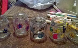 garden tealights, crafts, repurposing upcycling