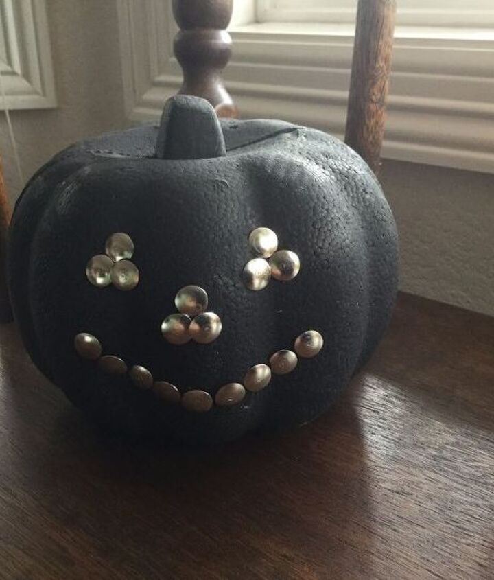 a dollar store pumpkin 3 ways to have fun , chalk paint, chalkboard paint, crafts, halloween decorations, home decor, outdoor living, painting, seasonal holiday decor, tools