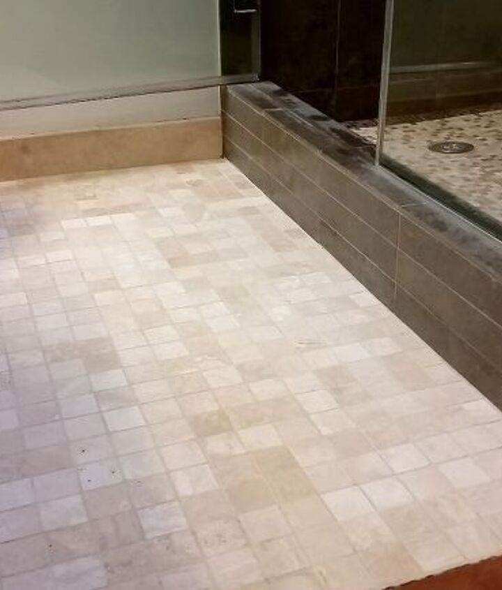 Shining Floors & Clean Grout Make me Happy!