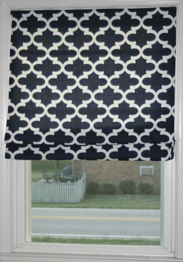 s 15 window curtain ideas for under 15, home decor, window treatments, Make your own Roman shade with 4 blinds