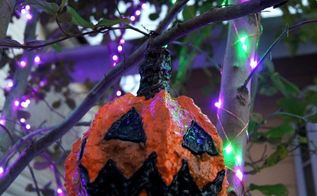 paper clay jack o lanterns for outdoor tree decor , home decor, outdoor living