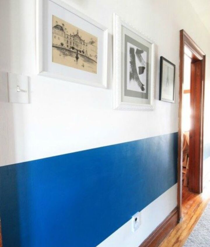 s if your hallway is dark here is what you re missing, foyer, Paint it with a thick bold stripe