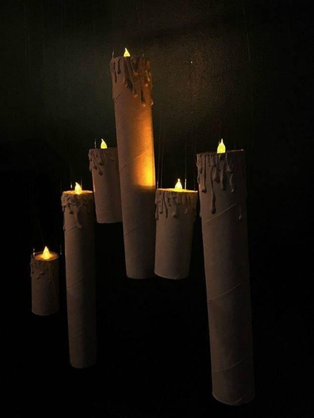 s grab toilet paper for these halloween ideas, bathroom ideas, halloween decorations, seasonal holiday decor, Turn them into floating candles