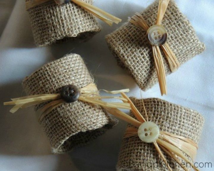 s grab toilet paper for these halloween ideas, bathroom ideas, halloween decorations, seasonal holiday decor, Or wrap the rings in burlap