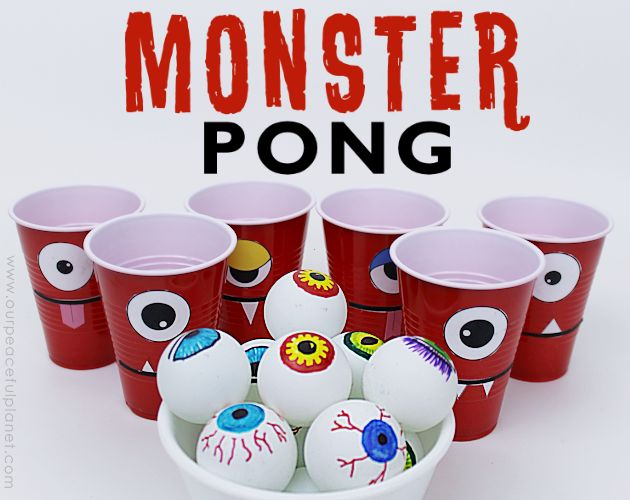 monster pong crafts halloween decorations painted furniture seasonal holiday decor