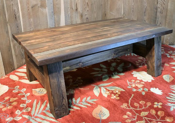 Diy Barn Wood Rustic Coffee Table W Pioneer Wood Patina