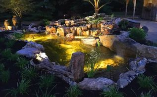 landscape lighting display, home maintenance repairs, landscape, lighting, patio, ponds water features