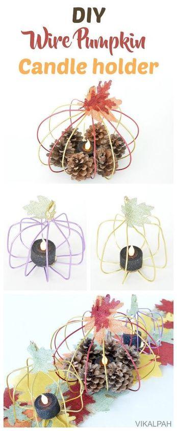 Make A Wire Pumpkin Candle Holder Hometalk