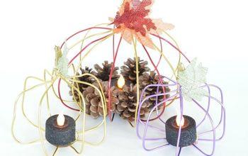 DIY Wire Pumpkin Candle Holder
