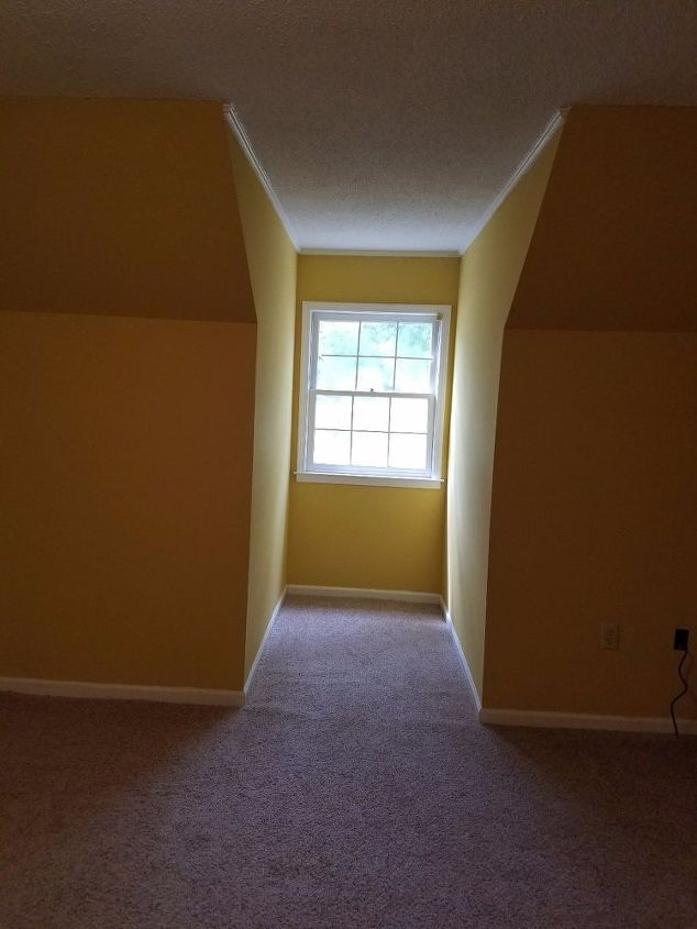 q what to do with deep dormers, bedroom ideas, home improvement, small home improvement projects, Dormer I d like to put a window seat in