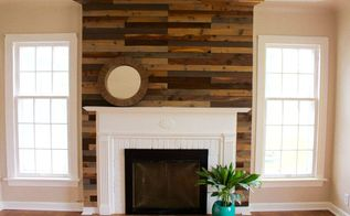 quick and easy fireplace update, fireplaces mantels, home decor, home improvement, living room ideas, pallet, wall decor, Final Result