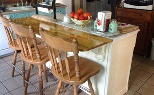 re purposed cabinet into kitchen island, kitchen cabinets, kitchen design