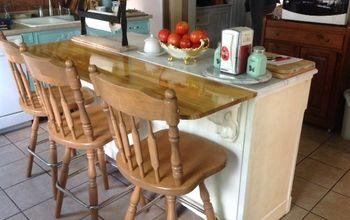 Re-purposed Cabinet Into Kitchen Island