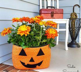 Elegant Straw Tote Bag Halloween Jack O Lantern Planter, Gardening, Halloween  Decorations, Outdoor Living Sadie Seasongoods