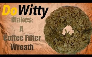 making a coffee filter wreath, crafts, painted furniture, wreaths, Coffee Filter Wreath