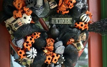 The Witch is In DIY Halloween Wreath