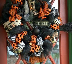 The Witch Is In Diy Halloween Wreath, Crafts, Halloween Decorations,  Seasonal Holiday Decor