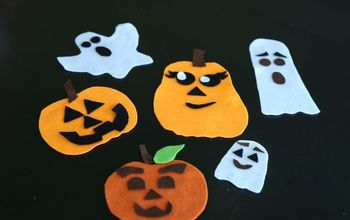 Felt Ghosts and Pumpkins Busy Bag for Kids