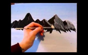 3 easy steps to painting a mountain with acrylic paint, how to, landscape