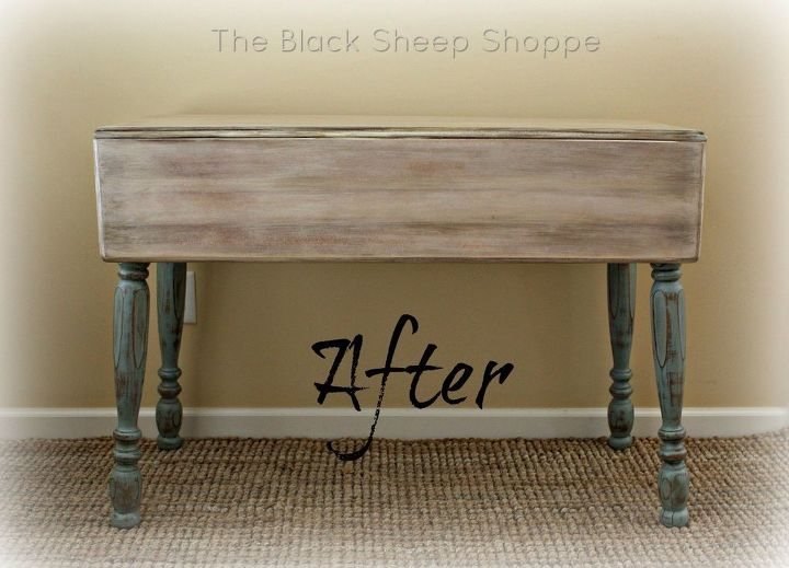 rustic farmhouse table using paint and glaze, painted furniture