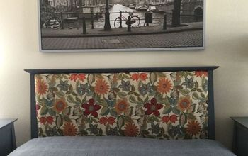 headboard redo, bedroom ideas, how to, reupholstoring, reupholster