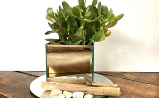 dollar tree mirror box centerpiece, home decor