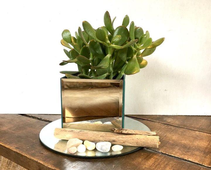 dollar tree mirror box centerpiece, home decor