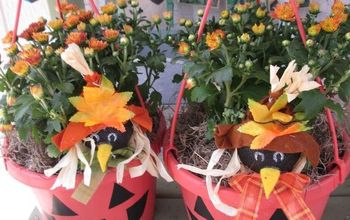 fun way to recycle those old hanging baskets with ease , crafts, halloween decorations, outdoor living, repurposing upcycling, seasonal holiday decor